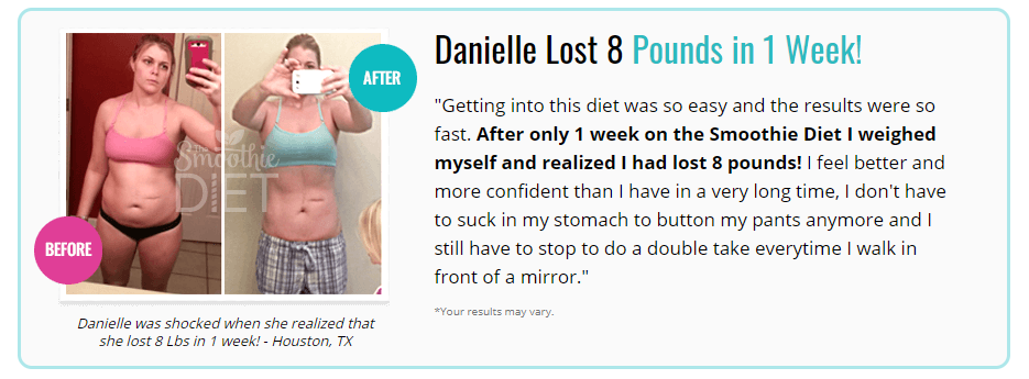 8 pounds weight loss